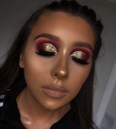 Eye Makeup Art, Full Face Makeup, Gold Makeup, Eyeshadow Makeup, Makeup Inspo, Makeup Inspiration, Makeup Tips, Eyeshadows, Makeup Ideas