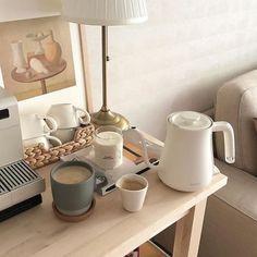 Home cafe korean beige aesthetic coffee drinks tea latte food room decor kitchens inspo apartment decor wooden palette room brown j. Cream Aesthetic, Aesthetic Coffee, Brown Aesthetic, My New Room, My Room, Café Latte, Aesthetic Room Decor, Aesthetic Themes, Aesthetic Design