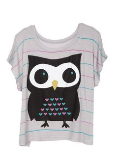 Striped Owl Tee - too cute!