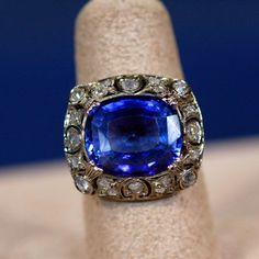 20th-Century Sapphire & Diamond Ring