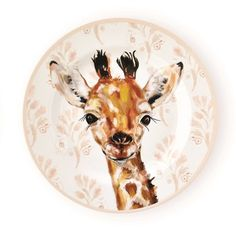 Kids Giraffe Dinner Plates - Christmas Tree Shops and That! - Home Decor, Furniture & Gifts Store Cotton Sheets, Cotton Quilts, Cool Glasses, Citronella Candles, Pumpkin Decorating, Quilt Sets, Gift Store, Baby Animals, Moose Art