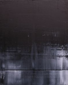 "Koen Lybaert; Oil, 2013, Painting ""abstract N° 670 [black and white I]"""