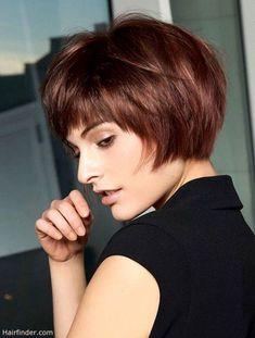 Bob cut for fine straight hair - hair styles for short hair Bob Hairstyles For Fine Hair, Hairstyles Haircuts, Bob Haircuts, Quick Hairstyles, Short Straight Hairstyles, Famous Hairstyles, Female Hairstyles, Spring Hairstyles, Celebrity Hairstyles
