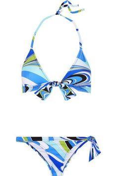 Emilio Pucci - Libellula Printed Triangle Bikini - Blue - IT