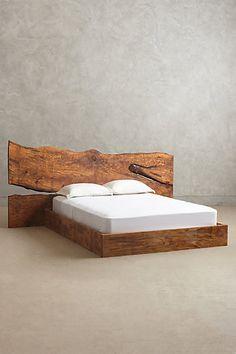 Live Edge Wood Queen Bed - anthropologie.com #anthroregistry