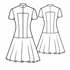 Free pattern for a Short-Sleeved Dress With Zipper Closure (love the mandarin-style collar!)