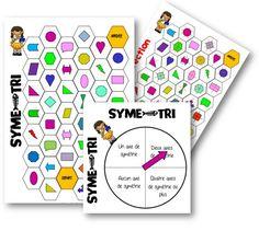 Axes of symmetry game Teaching Geometry, Teaching Math, Math Figures, Math Gs, Daily 3 Math, Build Math, Math Fractions, School Games, Cycle 3