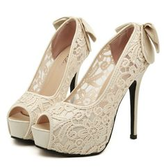 Peep Toe Sexy Lace Design High heel Fashion