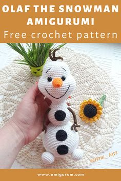 Disney Crochet Patterns, Crochet Amigurumi Free Patterns, Christmas Crochet Patterns, Holiday Crochet, Crochet Animal Patterns, Crochet Doll Pattern, Free Crochet, Free Knitting, Knit Crochet