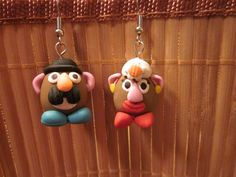 Handmade Polymer Clay Mr & Mrs Potato Head by KateMagnusonCrafts, $9.00