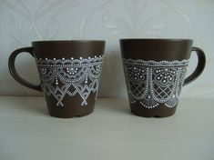 Точечная роспись чашки при помощи шаблона | ВКонтакте