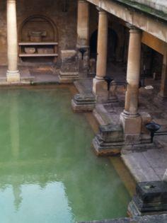 The Roman Baths at Aquae Sulis (Bath, England)    #Britain #travel #sacredsites