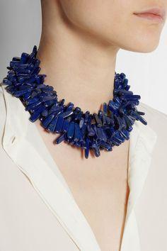 Kenneth Jay Lane|Lapis lazuli necklace