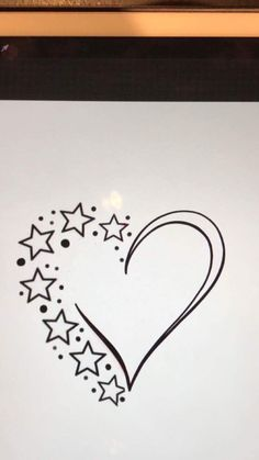 Stars n heart cousin tattoos, family tattoos, tattoos for daughters, star tattoos, Diy Jewelry Unique, Diy Jewelry Making, Pencil Art Drawings, Easy Drawings, Coloring Books, Coloring Pages, Star Tattoo Designs, Wood Burning Patterns, Star Tattoos