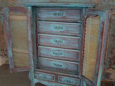 Large Jewelry Box Music Box Turquoise by turquoiserollerset, $75.00