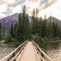 Wander around Pyramid Island in Jasper National Park, Alberta, Canada