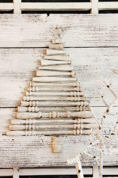 DIY Wood Spindle Tree - NV