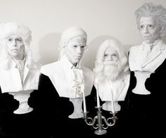 "Awesome costume idea - composer busts. You could also go as Zombie Mozart: he is now ""decomposing"" music :-)."