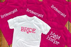 Bride shirts 5 bridal party bridesmaid gift  for bride by lptshirt, $74.50