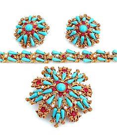 Outstanding HAR Parure Brooch Bracelet Earring by kiamichi7, $1200.00
