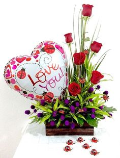 See related links to what you are looking for. Valentines Flowers, Valentines For Kids, Valentine Crafts, Valentine Nails, Valentine Ideas, Deco Floral, Floral Design, Valentine's Day Flower Arrangements, Cemetery Flowers