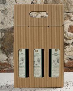 Valigetta 3 bottiglie Olio Extra Vergine. Azienda produzione: Oleificio Perrone