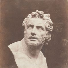 William Henry Fox Talbot Plaster Bust of Patroclus 1846
