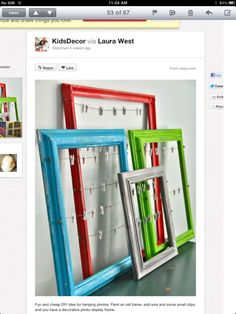 Spray paint old frames & add wire for a new, updated look!