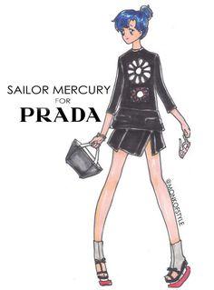 Sailor Mercury wardrobe update Prada