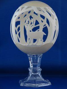 Carved ostrich egg