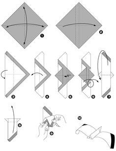 Mouette en origami