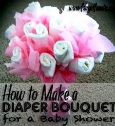 Easy DIY Baby Shower Diaper Bouquet