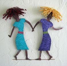 Art sculpture  Dancing Duo  sisters friends door frivoloustendencies
