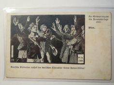 Wien ZUR Erinnerung AN DIE Novembertage 1905 Studentika   eBay