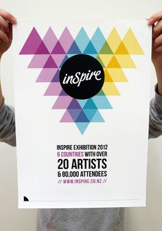 Inspire Exhibition Poster   © 2012 Lisa Ryan Design