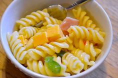 Kid-friendly pasta salad. Quick and easy to throw together. Great for gatherings.