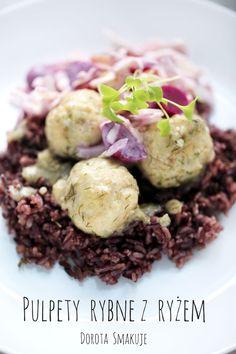 Pulpety rybne z ryżem czarnym i surówką to mój dzisiejszy pomysł na smaczny i zdrowy obiad.Czy ryby znajdują się w waszej diecie? Cabbage, Beef, Vegetables, Food, Diet, Meat, Essen, Cabbages, Vegetable Recipes