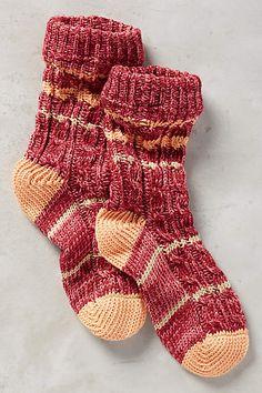 Varsity Stripe Socks - anthropologie.com Winter Socks, Winter Wear, Cozy Socks, Fun Socks, Striped Socks, Sock Shoes, Knitting Socks, Lounge Wear, Stockings