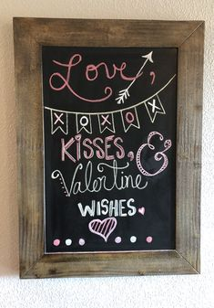 Make A Chalkboard, Chalkboard Ideas, Chalkboard Quotes, Bar Ideas, Art Quotes, Valentines, Create, Wall, Inspiration
