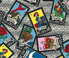 Loteria Lace Cotton Fabric by Robert Kaufman