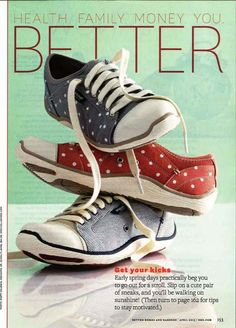 As seen in Better Homes and Gardens, the Jamie Sneakers. These look so cute and comfy!!!