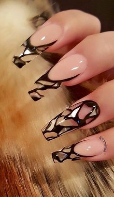 Nail Art Designs In Every Color And Style – Your Beautiful Nails Best Acrylic Nails, Acrylic Nail Designs, Nail Art Designs, Nails Design, Acrylic Gel, Clear Nails With Design, Best Nail Designs, Clear Nail Designs, Sexy Nails