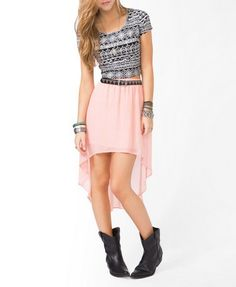 High-Low Chiffon Skirt | FOREVER 21 - 2030187769.........love the high low skirt