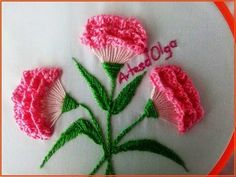 Wonderful Ribbon Embroidery Flowers by Hand Ideas. Enchanting Ribbon Embroidery Flowers by Hand Ideas. Brazilian Embroidery Stitches, Hand Embroidery Videos, Hand Embroidery Flowers, Embroidery Stitches Tutorial, Learn Embroidery, Embroidery For Beginners, Silk Ribbon Embroidery, Embroidery Techniques, Hand Embroidery Patterns