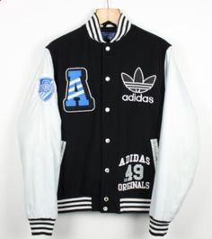 best wholesaler 722a0 036d7 FOR SALE  Vintage ADIDAS ORIGINALS Bomber Varsity jacket   Retro Trefoil    Large L