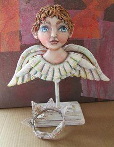 Shabby Chic Angel www.aforartistic.com #dolls