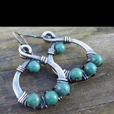 Silver w/ wrap beads