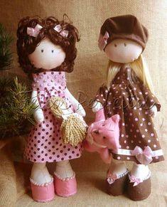 Tilda By Feitos Perfeitos: Irmãs Marrom e Rosa....Loira e Ruiva