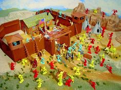 """Many days my brother and I played with his Fort Apache....I painstakingly set up all my """"Indians"""" around the perimeter of the Fort for my brother to announce """"The Indians are attacking!"""" and with one fateful swing of his hand...my men were destroyed...LOL and we did this over and over and over....good memories:)"""