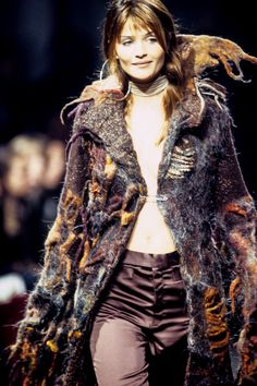 Helena Christensen walked for Koji Tatsuno RTW F/W 1993
